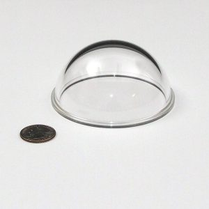 """Acrylic 3.4"""" Dome Port (with flange)"""